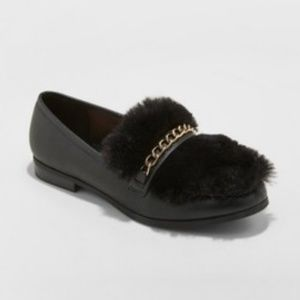 Women's Sal Faux Leather Fur Closed Loafers